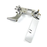 1pc aluminum alloy shaft kit 110mm suction water rudder steering rudders4mm shaft bracket flexible shafts mount for rc cat boat