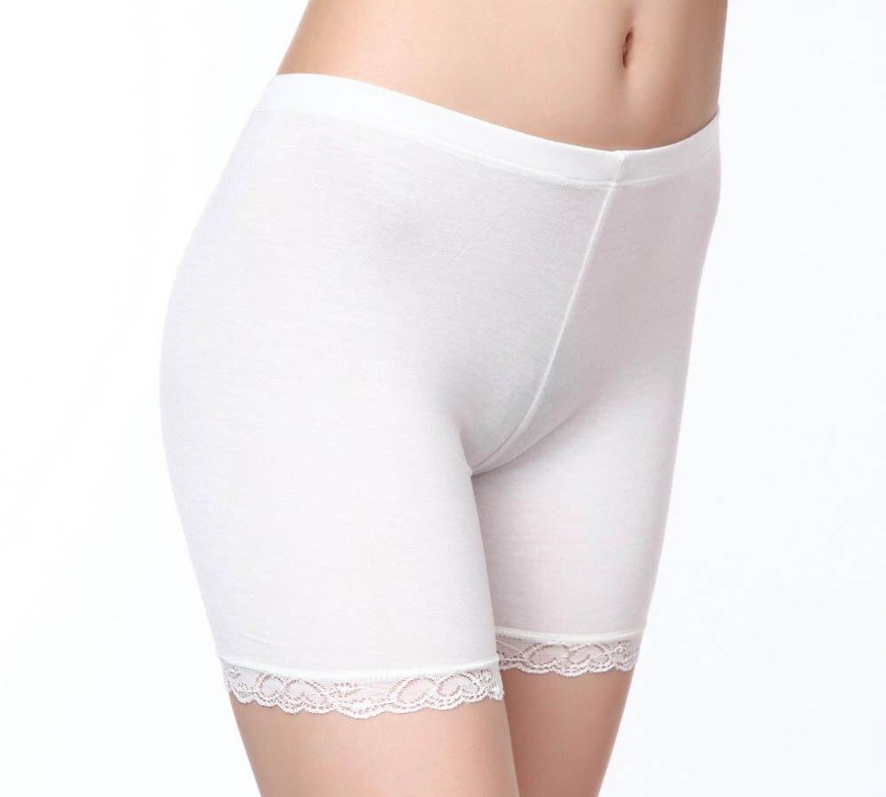 Negro Blanco beige color verano media cintura Sexy sólido transpirable Boyshorts Panty para dama vestido de fiesta seguridad boyshorts M-3XL
