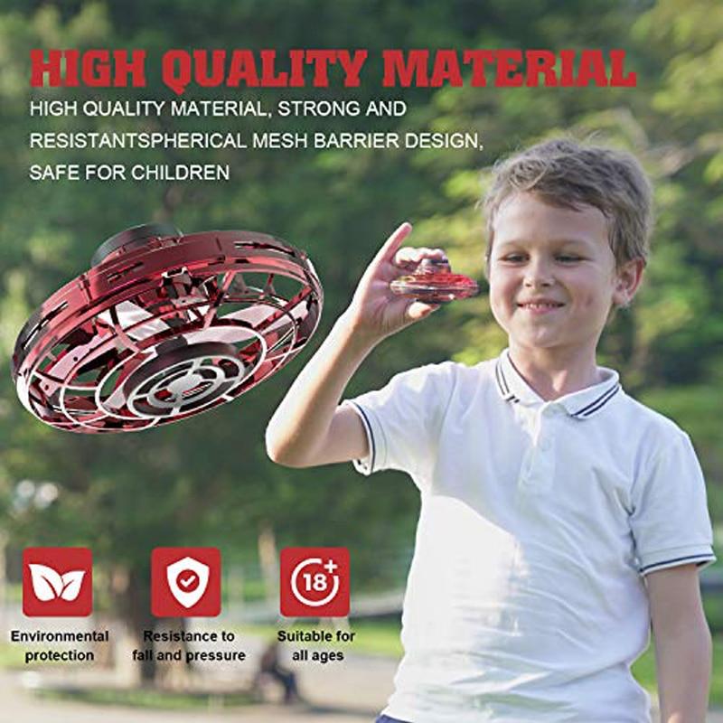 Mini LED UFO Flying HelicopterType Fingertip Fine-Tuning Flight Sensor Flying Top Toys Adult Children Gift Toy enlarge