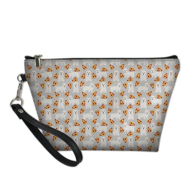Косметички для женщин West Highland Terrier, косметички с принтом собак, Женская Портативная сумка для туалетных принадлежностей, женская сумка для м...