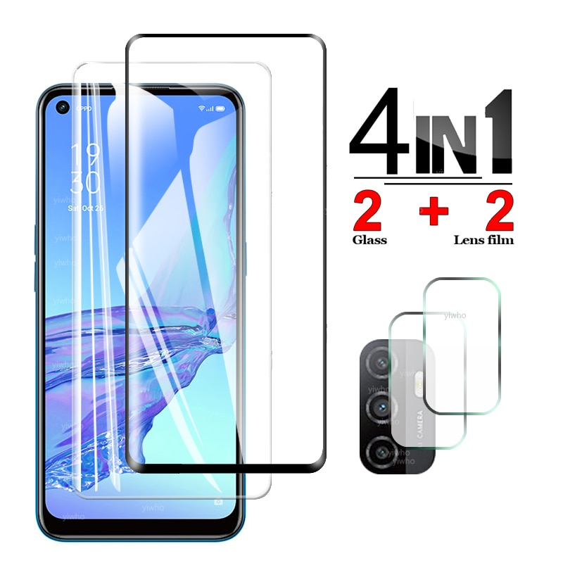 Protective Glass for OPPO A53s Screen Protector Tempered Camera Lens Safety Glass for OPPO A53s A53