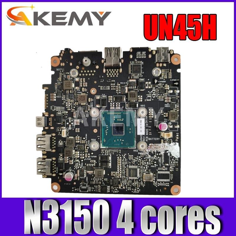 Akmey mianboard لشركة آسوس فيفوميني UN45H UN45H-VM062M صغيرة HD الكمبيوتر اللوحة N3150 4 النوى 90MS00R0-R01000