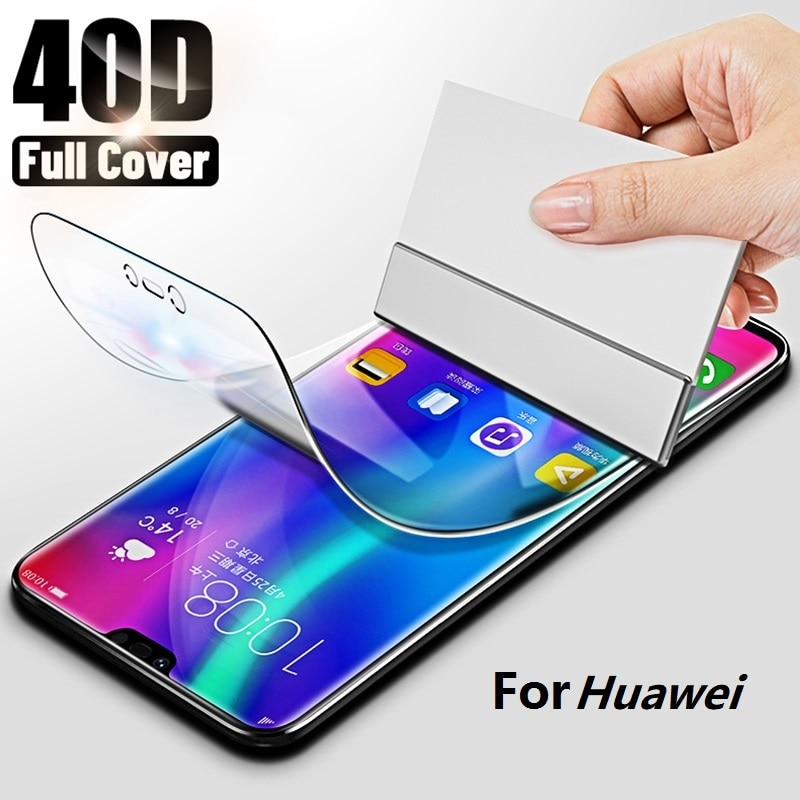9D Full Hydrogel Film For Huawei P smart 2018 P10 Plus P20 Pro Screen Protector On Honor 8 9 10 Lite