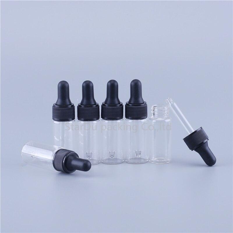 500 قطعة 10 مللي واضح زجاجة قاطرة العين بالزجاج ترسل في حزم متعددة