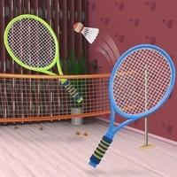 childrens badminton racket mini set kindergarten baby primary school students single and double racket beginner kids toys