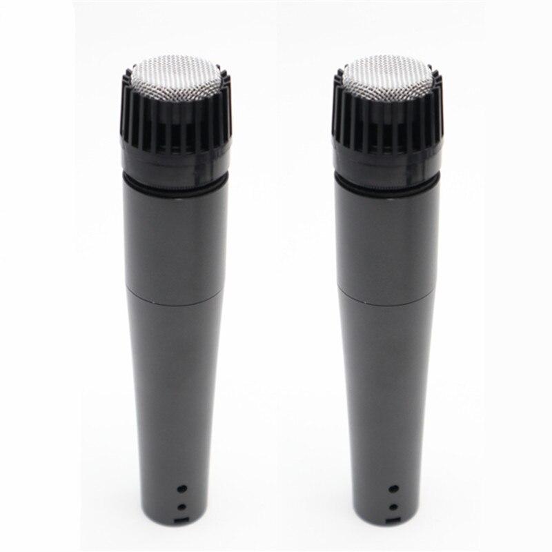2 шт микрофон Dyanmic Capsule звукозаписывающий студийный SM57 Профессиональный для гитарного усилителя барабанный набор инструментальный микшер аудио