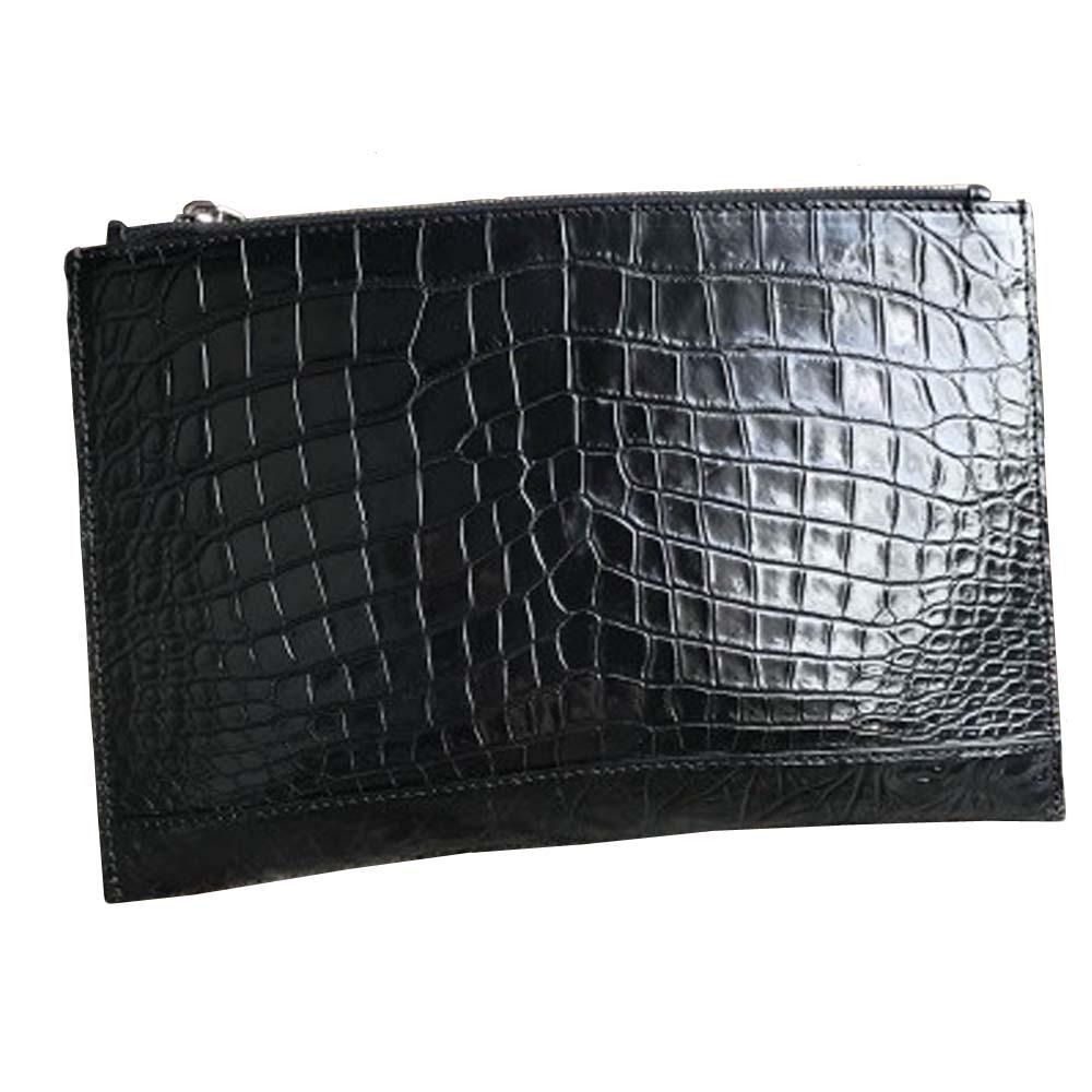 hongsen new arrival  crocodile belly  handbags  male  crocodil leather large capacity  thin  Men's bags men clutch bag
