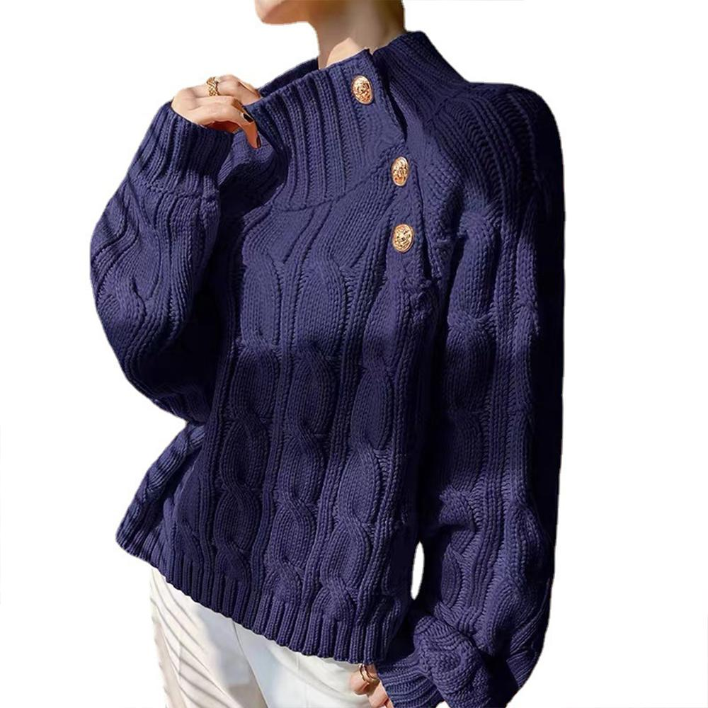 Women Warm Long Sleeve Knitted Sweater Ladies Loose Casual Pullover Plain Jumper Tops enlarge