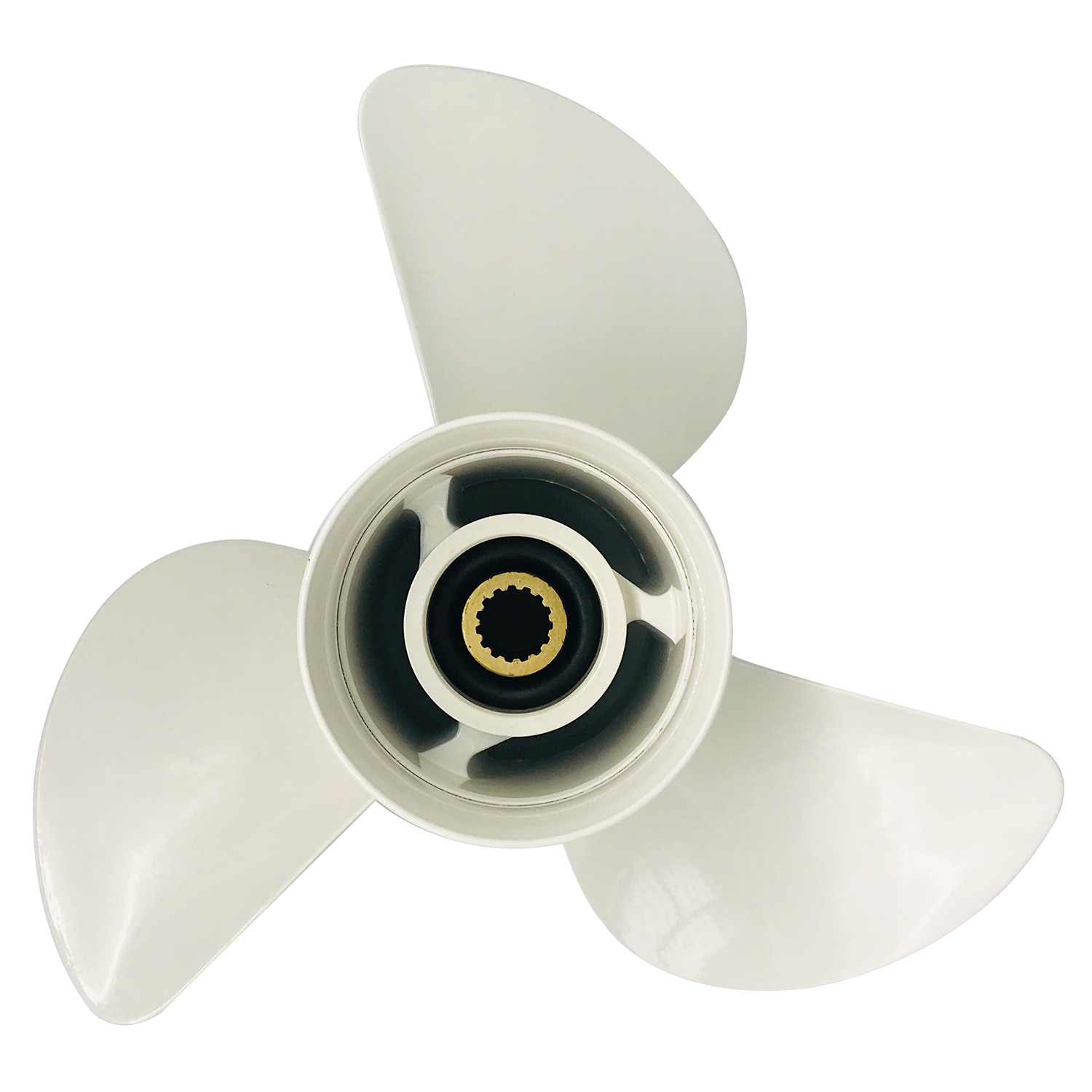 Boat propeller suit for Yamaha 13 7/8x17 aluminum prop 50-130HP 3 blade 15 tooth RH enlarge