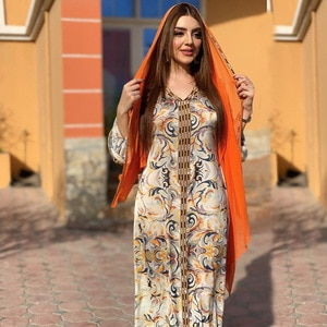 African Dresses For Women 2021 New Style Classic African Dashiki Fashion Loose Long Dress Africa Clothes Muslim Fashion Abaya