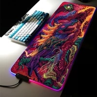 mouse pad rgb mat cute gaming accessories cs pc gamer girl keyboard wrist rest genshin impact stitch solo leveling lol valuing