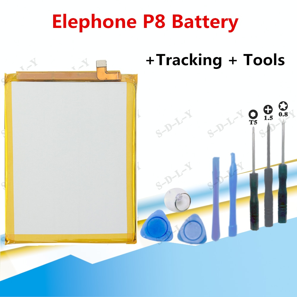 100% Оригинальный аккумулятор Elephone p8, 3600 мАч, смартфон, запасные мобильные телефоны