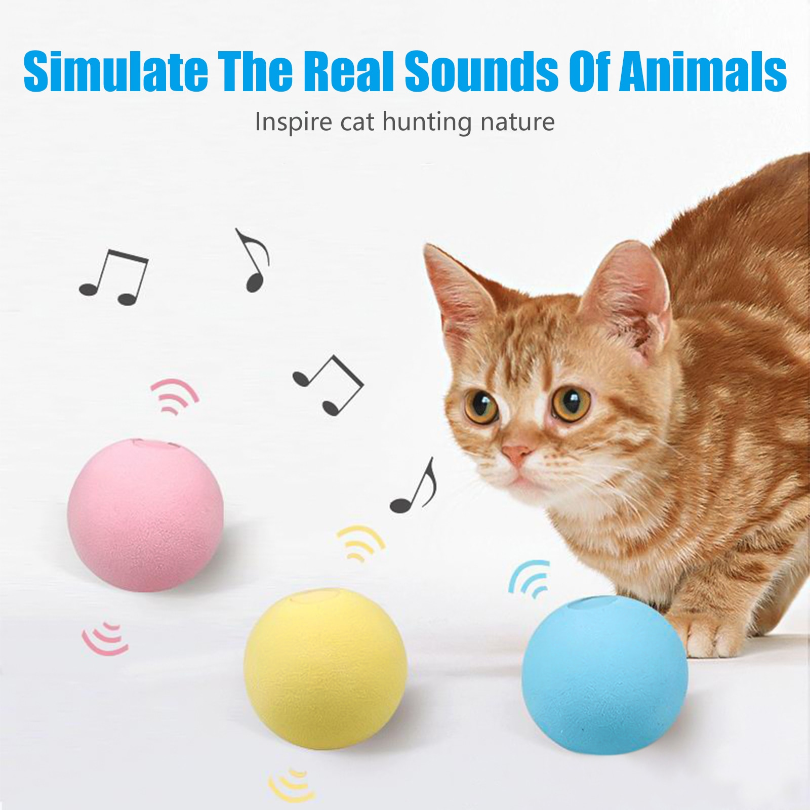 Pet Cat Toy Rolling Gravity Sound Ball 360 Degree Self Rotating Ball Pets Playing Toys Motion Activated Pet Interactive Toy automatic 360 degree rotating laser light cat interactive toy