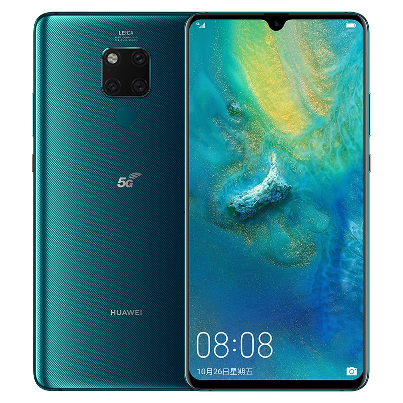 Version internationale Huawei Mate 20X5G EVR-N29 téléphone intelligent Balong5000 7.2 pouces 8GB 256GB Kirin 980 40W Super Charge NFC