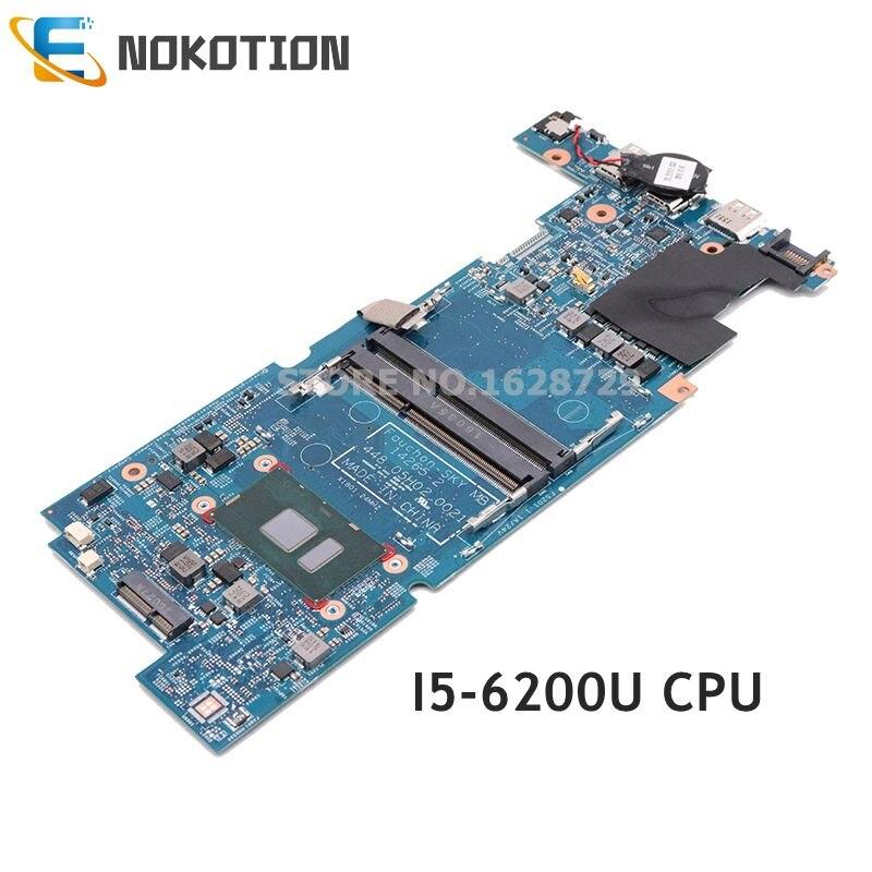 NOKOTION 849243-001 849243-601 ل HP جناح X360 13-S 13T-S اللوحة المحمول 448.05H02.0021 SR2EY I5-6200U CPU DDR4
