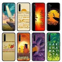 Thin Case for Realme X50 Pro 5G X2 Pro XT C3 5i 5 Pro 6i 6 Pro Narzo 10 10A Phone Cover Shell Comic The Lion King Hakuna Matata