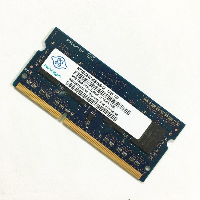 Nanya DDR3 RAMS 4GB 1Rx8 PC3L-12800S-11 DDR3 4GB 1600MHz laptop speicher 1,35 V 204pin