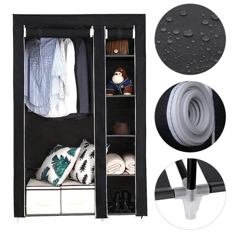 Шкаф-гардероб из нетканого материала, складной шкаф для хранения одежды, шкаф для спальни, полка для хранения одежды HWC
