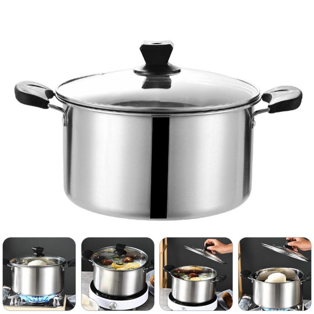 1 قطعة الفولاذ المقاوم للصدأ قدر وعاء مقاوم للصدأ المنزل ستوكبوت إناء للحساء أدوات المطبخ