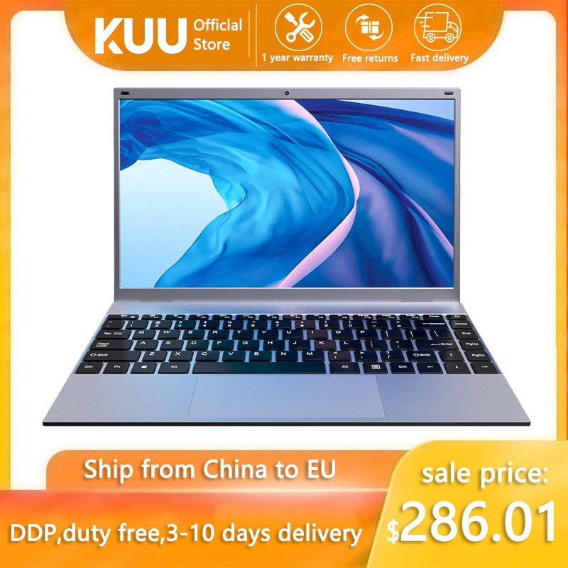 Laptop KUU XBook, 14.1'' FHD (1.920x1.080) IPS, Intel Celeron J4005, 8GB RAM, 256GB/512GB SSD, Ultra HD Graphics 600, Windows 10