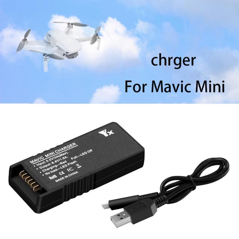 Cabo do carregador para dji mavic mini zangão usb carregador de bateria qc3.0 tipo-c carregamento rápido zangão carregador para dji mavic mini zangão
