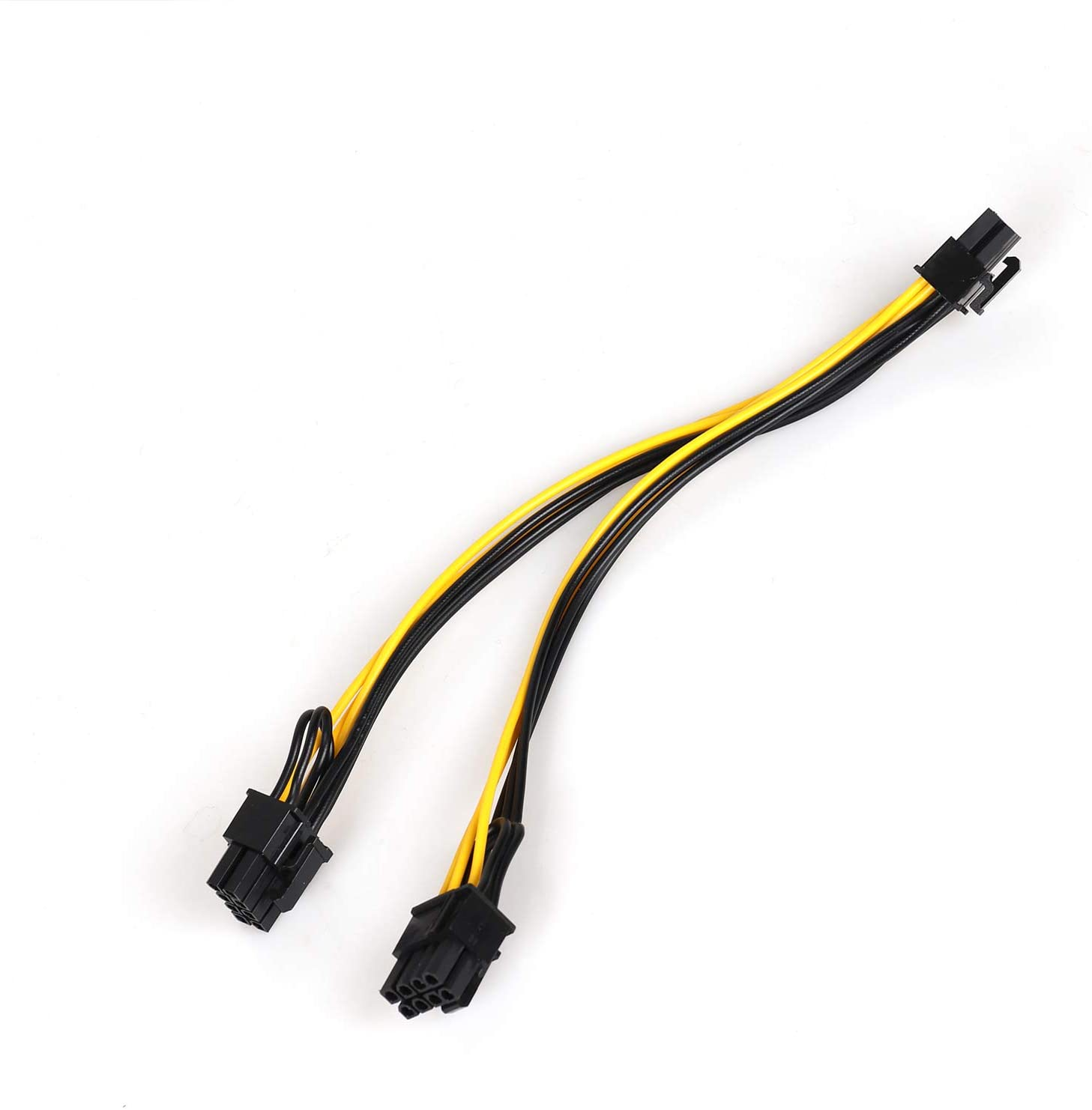 bslemon charger cable 6 pin male to dual 8 6 2 pin male pcie gpu power connector converter power cable pcie extender cable BsLemon Charger  Cable 6 Pin Male to Dual 8 (6+2) Pin Male PCIE GPU Power Connector Converter Power Cable PCIE Extender Cable