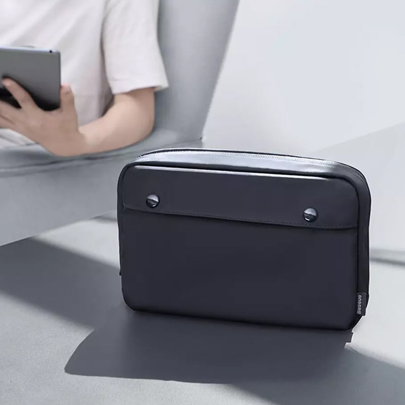Xiaomi Digital Storage Bag Portable Cable Organizer Storage Bags Earphone Power Bank Zipper Nylon Case Accessories Pouch enlarge