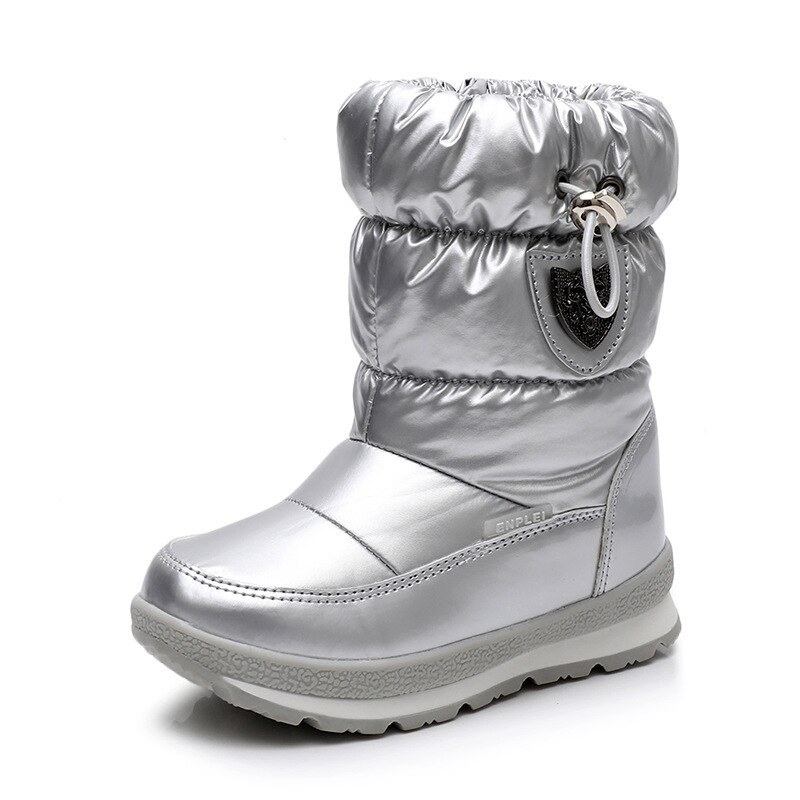fur Wool Snow Boots Children High Quality Australia Boots Winter Warm Plush Waterproof No-slip Boy Girls Mid-calf Boots kids