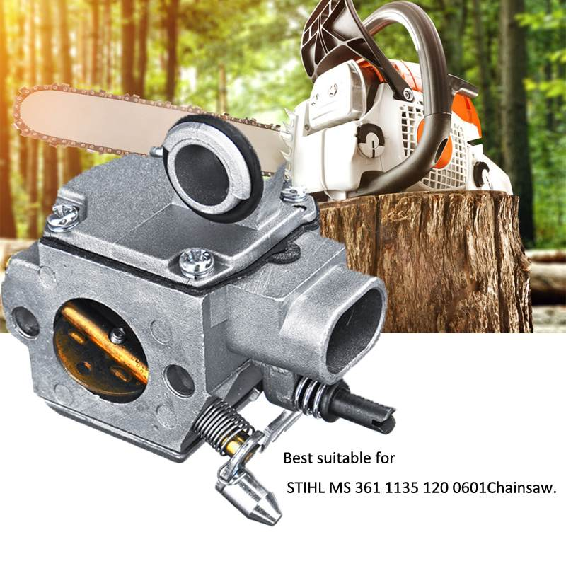 Jardinagem serra de corrente carburador carb substituição apto para motosserra stihl ms 361 1135 120 0601 peças motosserra