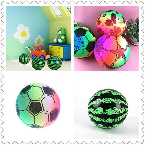 Надувной мяч, имитация арбуза, резиновый мяч, пляжные мягкие уличные игрушки и пляжный волейбол, надувной Радужный мяч из ПВХ