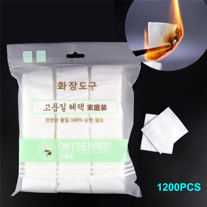 1200 шт. подушечки из натурального хлопка для макияжа лица, для смешивания, чистящая жидкость для снятия хлопковая ежедневный инструмент