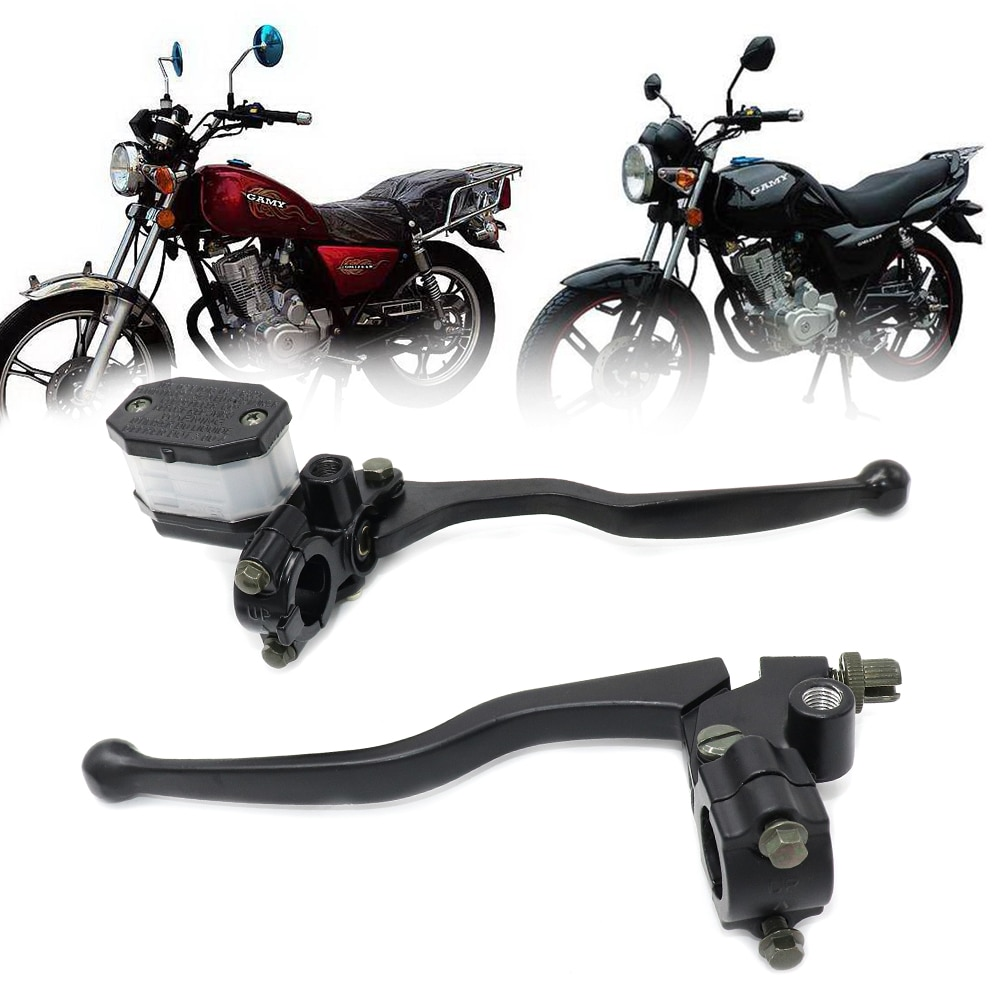CVO GN125 Motorcycle Universal Black Clutch Lever Brake Master Cylinder Motorcycle Hydraulic Brake Master Cylinder Handle Access motorcycle brake pump buggy scooter universal cylinder hydraulic clutch handle accessories left right black silver brake lever