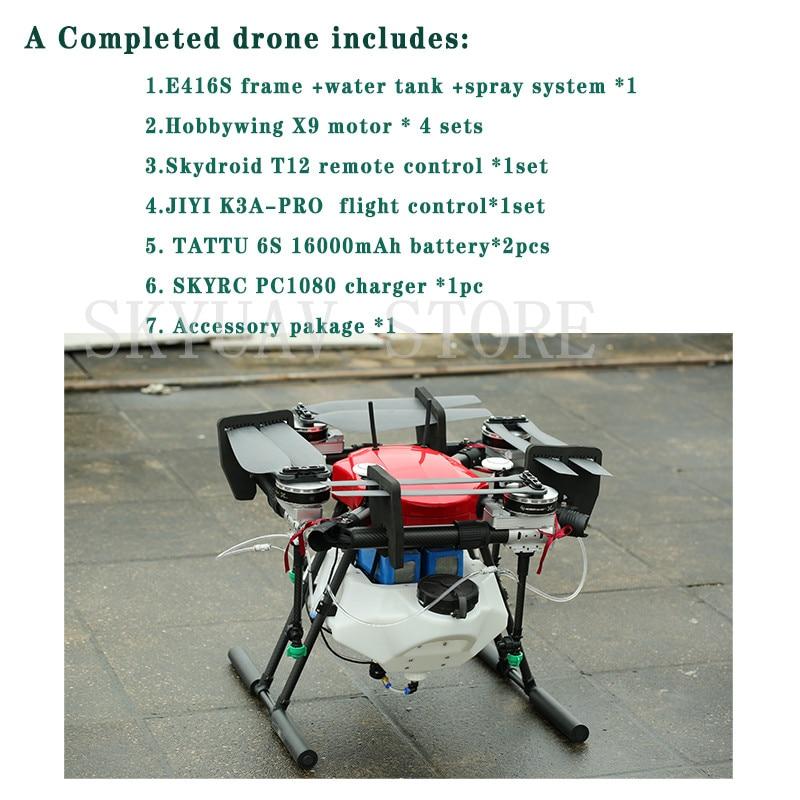 EFT E416S 4 محور 16L الرش gimbal نظام للطي Quadcopter رذاذ مضخة الزراعة Drone مع X9 نظام الطاقة