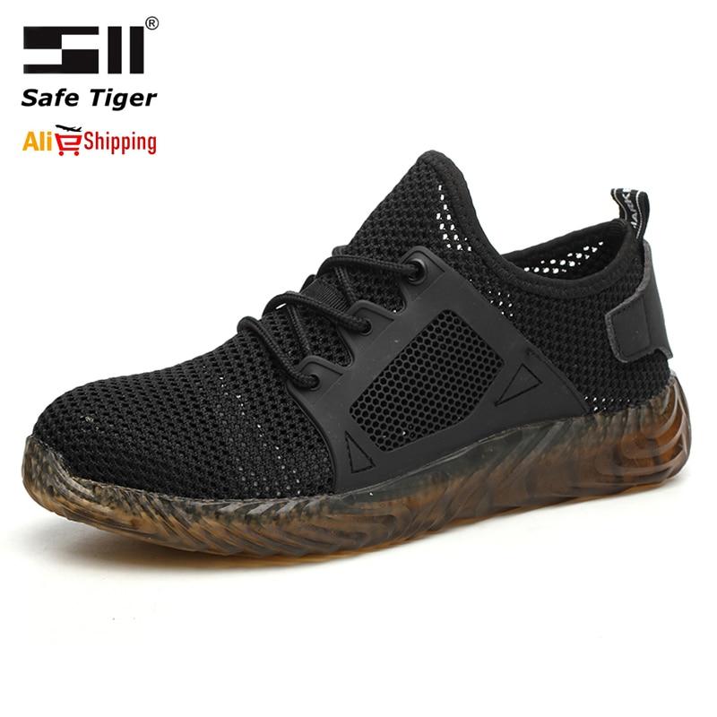 حجم كبير 36-50 رجالي الصلب أحذية سلامة بفتحة لأصبع القدم ثقب واقية حذاء برقبة للعمل دروبشيبينغ