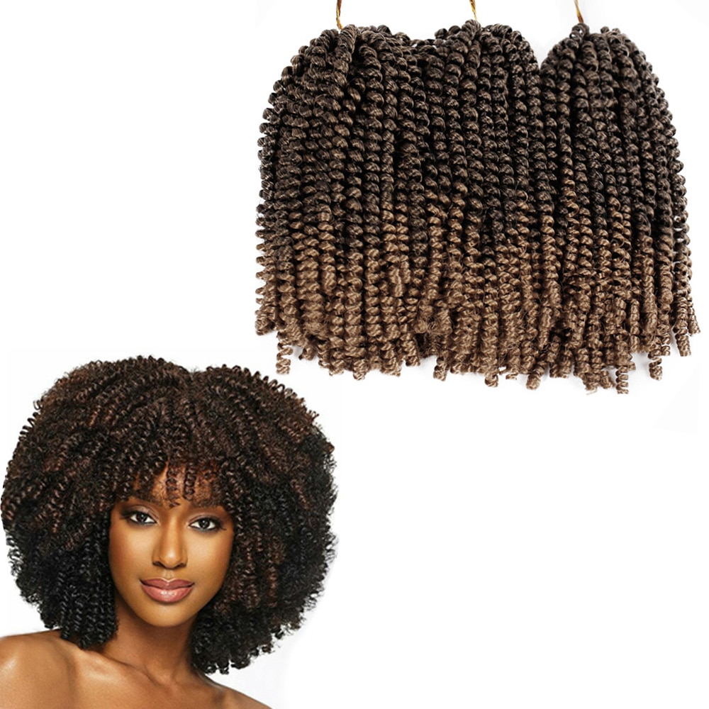 ONXY 8inch Fluffy Spring Twist Crochet Hair Extensions Synthetic Crochet Braids Black Brown Ombre Braiding Hair 110g onxy 8inch fluffy spring twist crochet hair extensions synthetic crochet braids black brown ombre braiding hair 110g