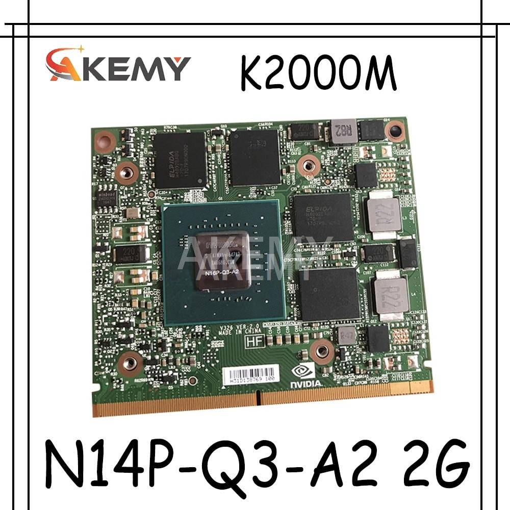 Original N14P-Q3-A2 2G CN-0D30WG 0D30WG K2000M K 2000M Grafikkarte für For DELL Präzision M4700 M4800 For HP Elitebook 8560w