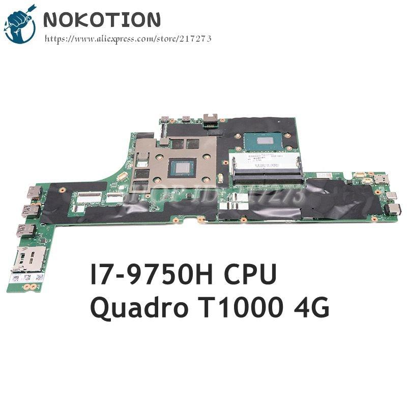 NOKOTION 02DM439 لينوفو ثينك باد P53 اللوحة المحمول SRF6U I7-9750H CPU كوادرو T1000 4GB GPU