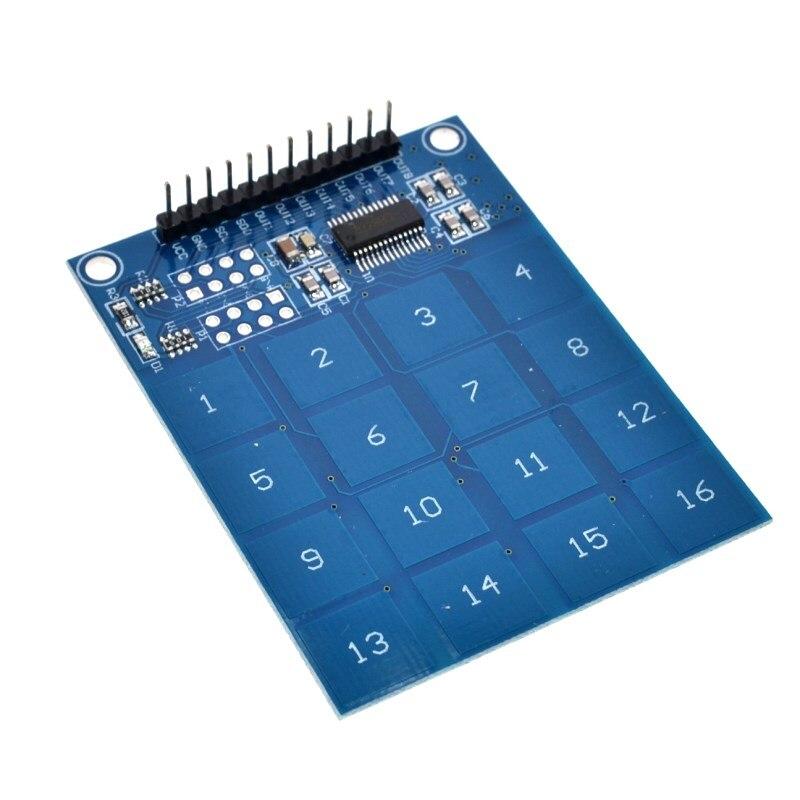 Módulo Interruptor do Sensor de Toque Capacitivo TTP-229 TTP229 16 Canal Digital