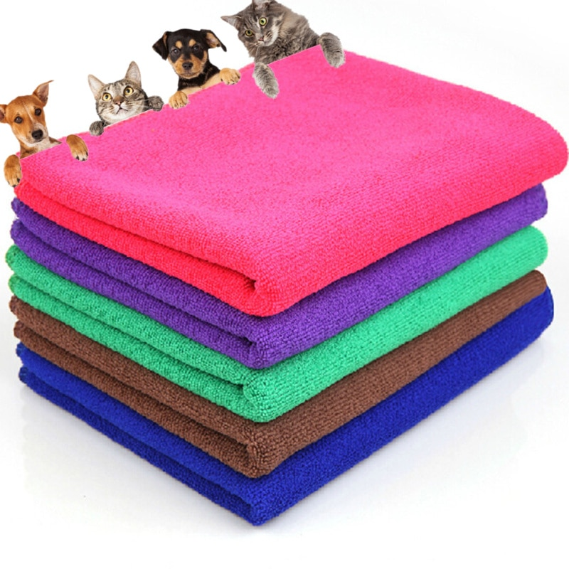 AliExpress - Microfiber Strong Absorbent Water Bath Pet Towel Dog Towels Puppy Teddy General Pet Bath Supplies Cat Accessory