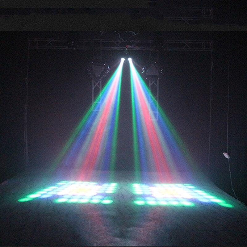 LED dirigible de doble cabeza Luz de flores y Luna entretenimiento en el hogar DJ iluminacin para fiesta discoteca sonido traba