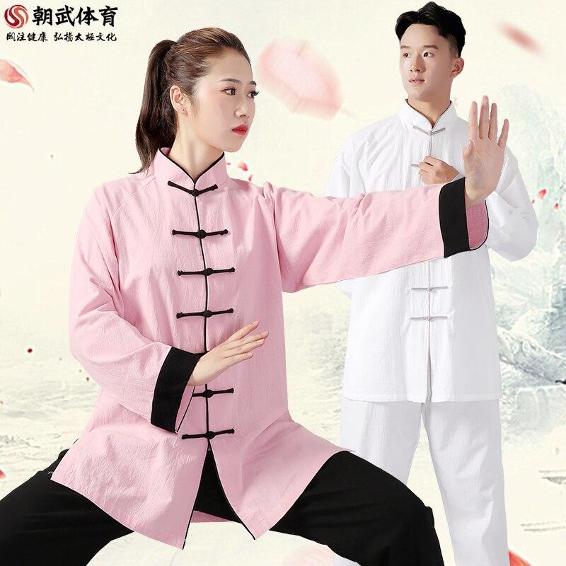 Унисекс для мужчин и женщин Тай Чи мартейл искусство униформа Одежда Хлопок Лен свободные широкие брюки рубашка Кунг фу Тай Цзи упражнения повседневный костюм| | | АлиЭкспресс