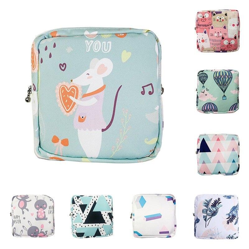 Новинка 2021, Женская Портативная сумка для хранения гигиенических прокладок, хлопковая дорожная сумка для хранения косметики, литературный кошелек на молнии для мелочей