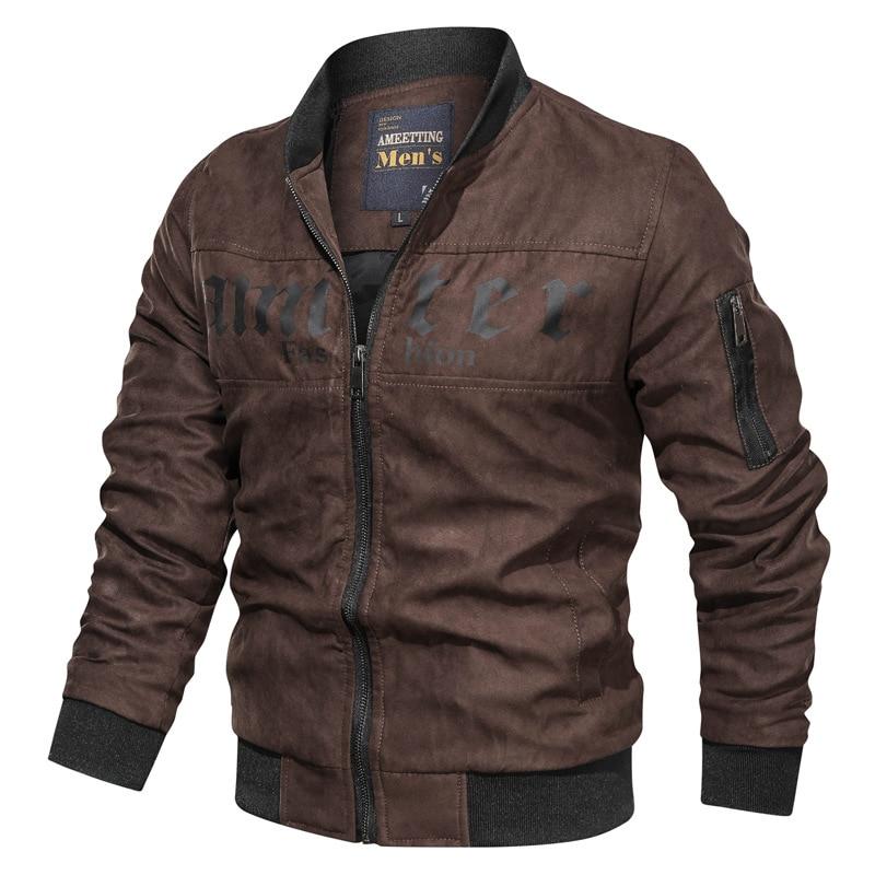 Chaqueta de hombre NEGIZBER, chaqueta informal de manga larga con cuello levantado, chaqueta de Color sólido salvaje para hombre