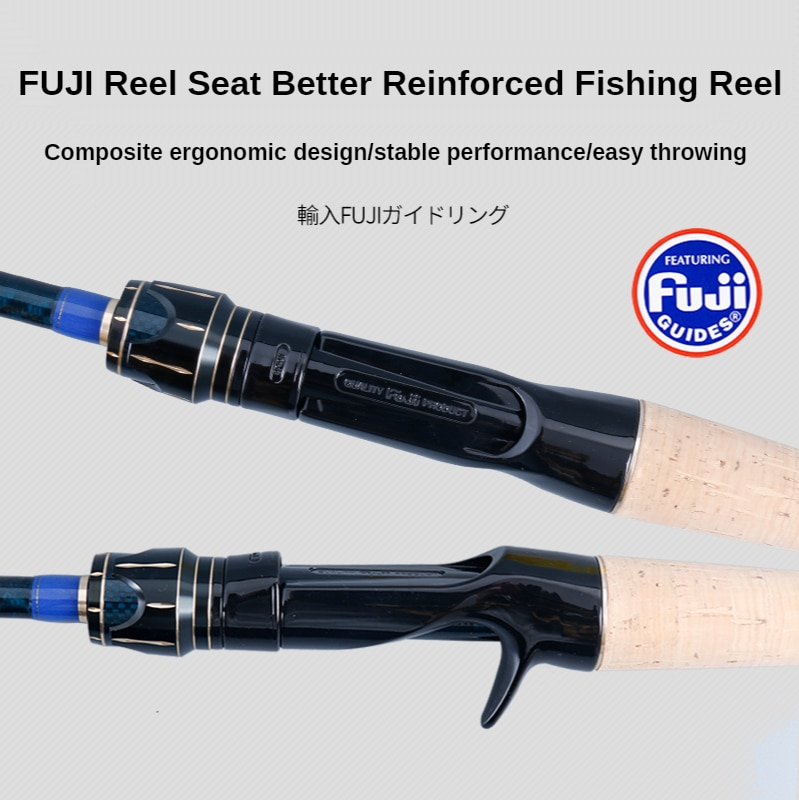 PURELURE Portable All Fuji lure rod combo fresh water spinning casting rod and reel enlarge