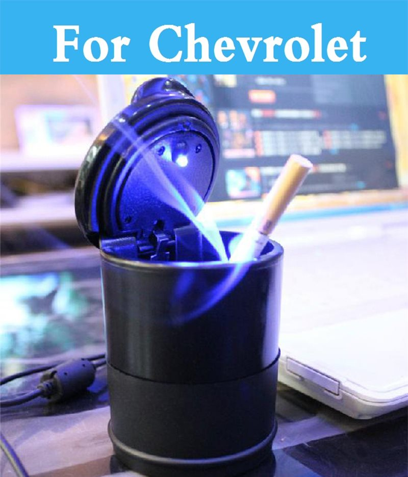 Cenicero Dolly Cenicero con lámpara LED para Chevrolet SS suburbano atravesar Viva de Tahoe rastreador pionero