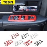 tesin interior mouldings for dodge ram 1500 car window lift switch button panel decoration cover for dodge ram 1500 2010 2017