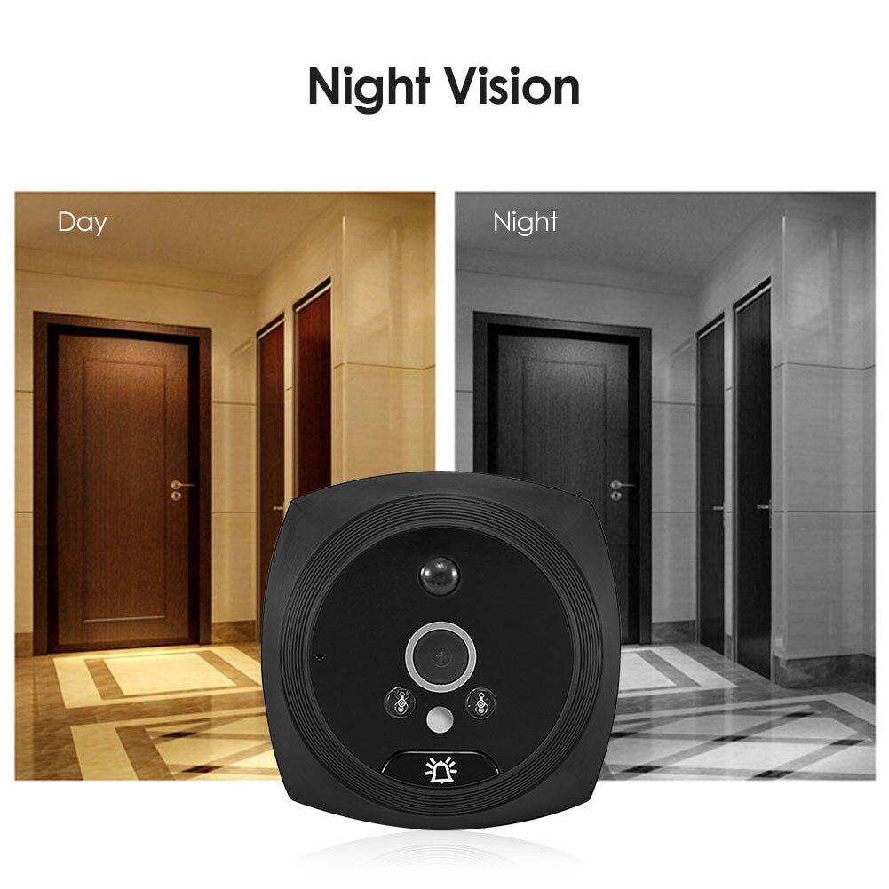 4.3 inch Visual Intercom Doorbell Night Vision Phone Video Door Bell Cat Eye Monitor Smart Home Doorbell for Home Security enlarge