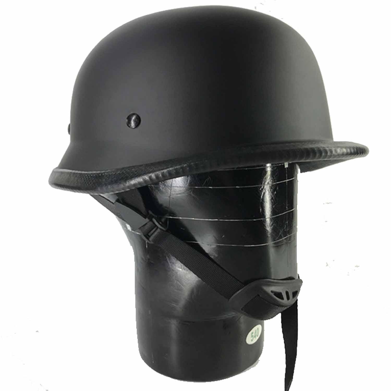 Nuevo casco de ciclismo estilo alemán Motocicleta WWII medio casco Chopper Biker Pilot gafas Open Face Moto Capacete MJ