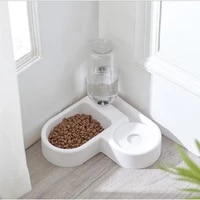 pet bowl automatic water dispenser food bowl small medium dog cat supplies double bowl water drinking bottle slow feeder puppy