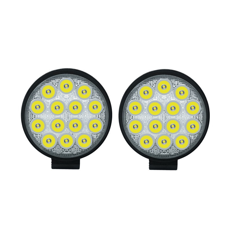 2x Circular 42W LED Work Light Bar 24V Off Road Spot Lamp For Car Truck off-road forklift boat light Bar 6000K Led